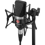 Neumann TLM 102 Large Diaphragm Condenser Microphone Studio Set with Shockmount - Black