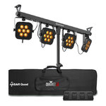 Chauvet DJ 4BAR Quad Complete LED Wash Lighting System with Wireless Control