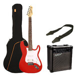 Ashton Electric Guitar Starter Pack - Transparent Red