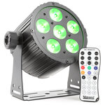 Beamz BAC406 RGBAW-UV LED Par Can with Remote