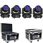 Event Lighting LM6X15 LED Moving Head Package with Case