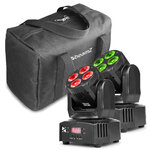 Beamz MHL36 Wash Set with 2 Moving Head LED Wash Lights and Bag