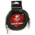 Carson Rocklines ROK10BG 10 Foot Black and Gold Noiseless Guitar Lead/Instrument Cable