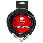 Carson Rocklines ROK10BK 10 Foot Noiseless Black Braided Guitar Lead/Instrument Cable