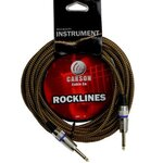 Carson Rocklines ROK20BV 20 Foot Braided Tweed Noiseless Guitar Lead/Instrument Cable